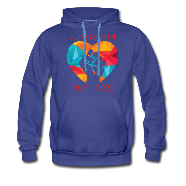 Juneteenth Heart Fist Men's Premium Hoodie **LIMITED EDITION** - royalblue