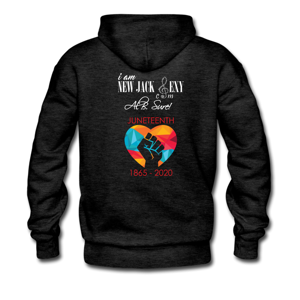 Juneteenth Heart Fist Men's Premium Hoodie **LIMITED EDITION** - charcoal gray