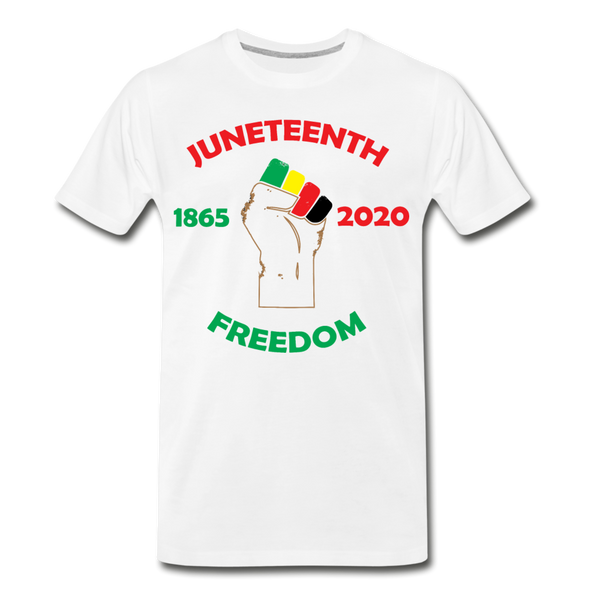 Juneteenth  1865-2020 Premium T-Shirt **LIMITED** - white