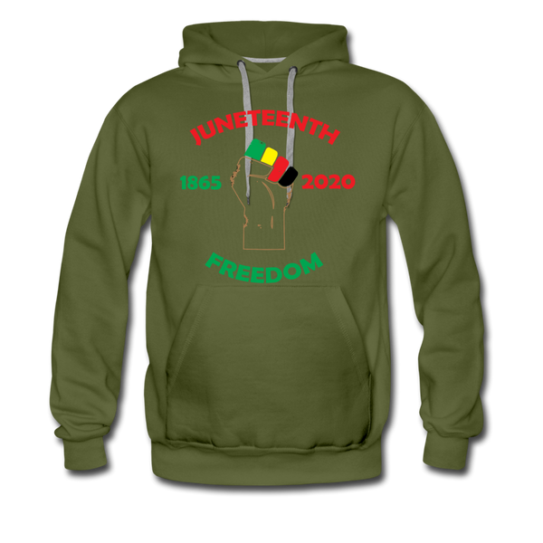Juneteenth Freedom Premium Hoodie **LIMITED** - olive green