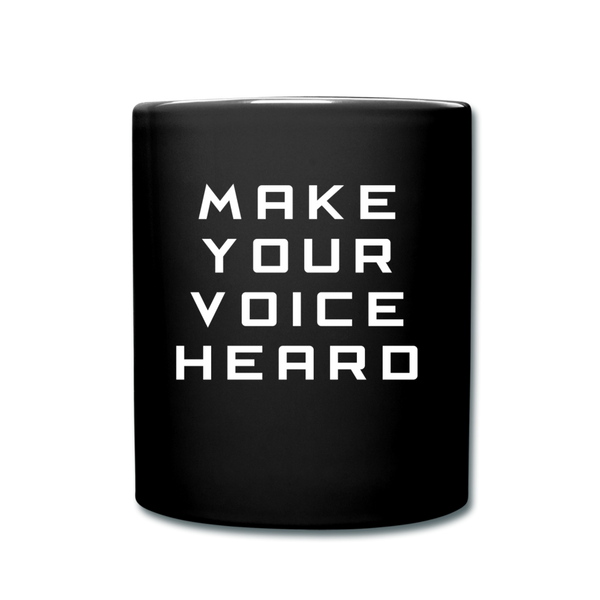 Make Your Voice Count Mug Cup - black