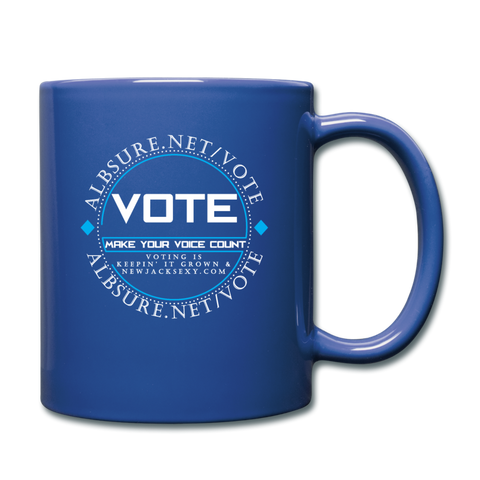 Make Your Voice Count Mug Cup - royal blue