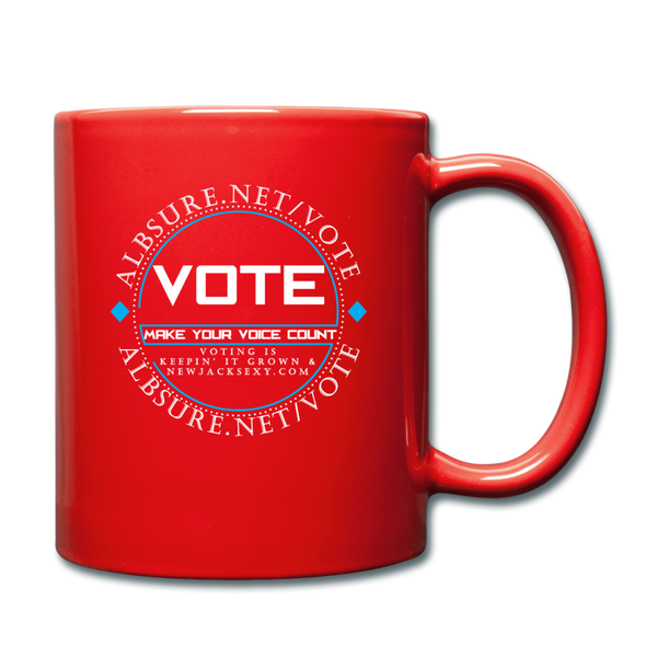 Make Your Voice Count Mug Cup - red