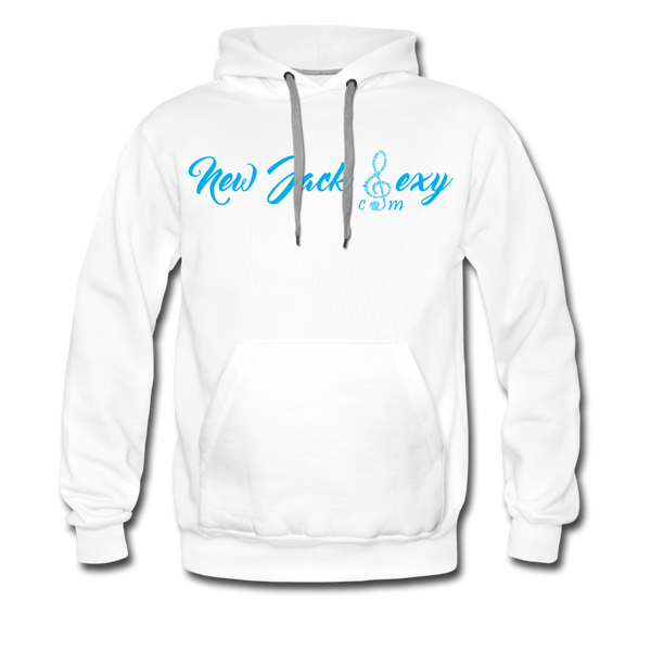 New Jack Sexy Men's Premium Hoodie (Blue Letters) - white