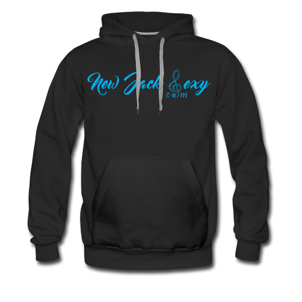 New Jack Sexy Men's Premium Hoodie (Blue Letters) - black