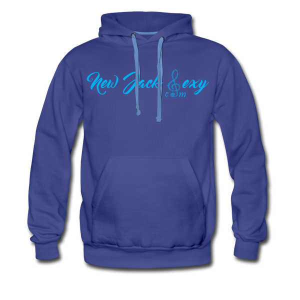 New Jack Sexy Men's Premium Hoodie (Blue Letters) - royalblue