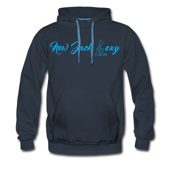 New Jack Sexy Men's Premium Hoodie (Blue Letters) - navy