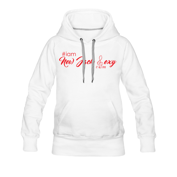 i am New Jack Sexy Women's Premium Hoodie (Red Letters) - white