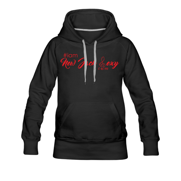 i am New Jack Sexy Women's Premium Hoodie (Red Letters) - black