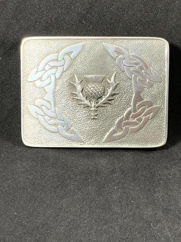 Buckle - Thistle and Knotwork (Bulldog)