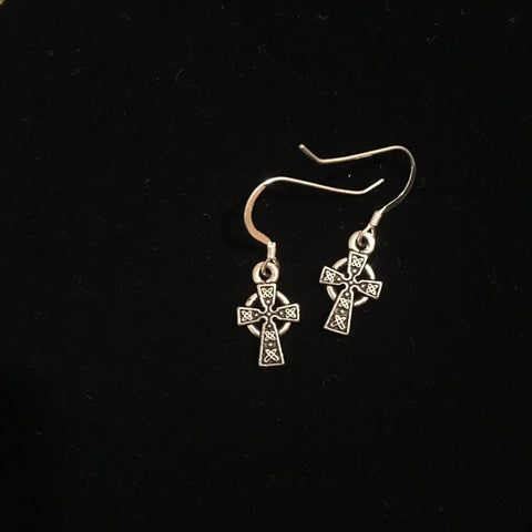 Earrings - Small Celtic Cross
