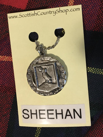 Pendant Sheehan Irish Crest w/ Chain
