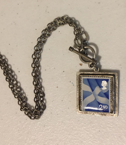 Necklace Saltire Stamp w/ Chain