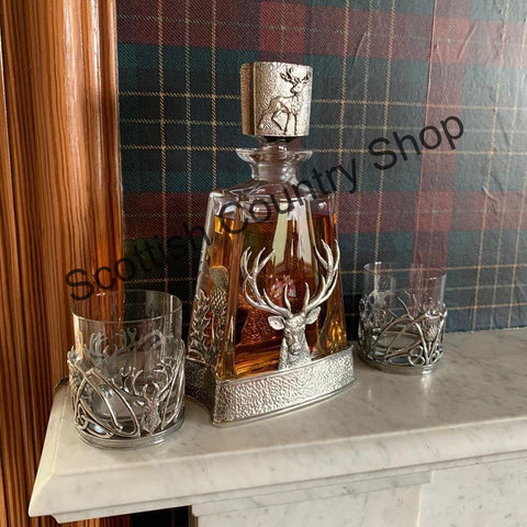 Stag Decanter with Tumblers