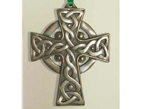 Christmas Ornament - Bronzed Celtic Cross