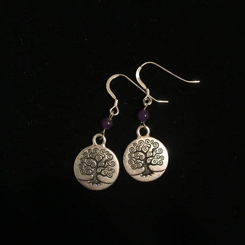 Earrings - Tree of Life with accent bead