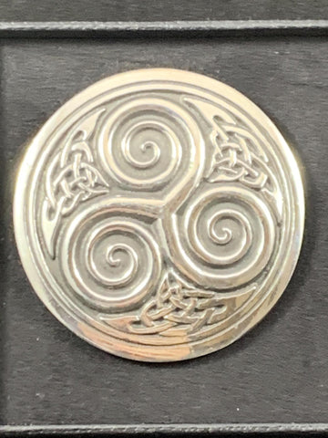 "Brooch - 2"" Celtic Triskele"