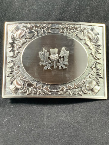Buckle - Antiqued Thistle Oval