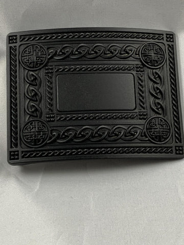 Buckle - Matte Black Knotwork
