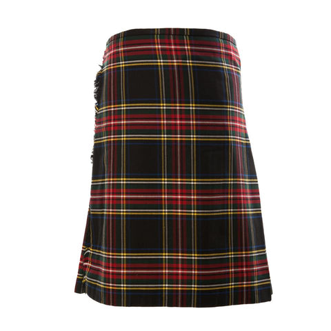 Kilt Mens Full Budget Stewart Black Poly-Viscose