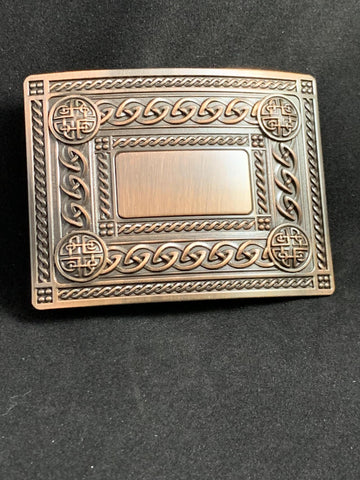Buckle - Antiqued Copper Knotwork