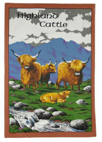 Tea Towel - Highland Cow