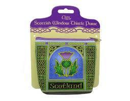 Coin Purse Scottish Thistle Window