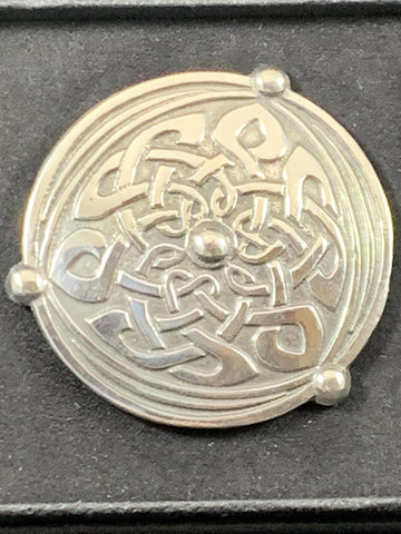 "Brooch - 2"" Celtic Shield"