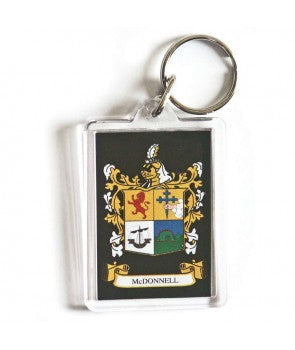 Key Ring with Full Color Family Crest, Acrylic (A-K)