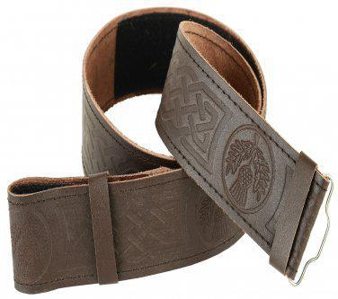 Belt Kilt Brown Standard Embossed Velcro Small