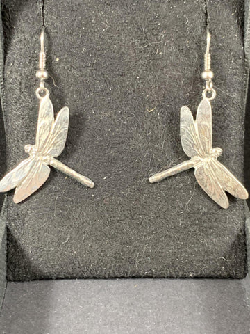 Earrings - Pewter Dragonfly