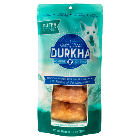 Yak Cheese Chew Puffs (Dogs 5lbs and larger)