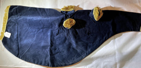 Bagpipe Bag Cover Velvet Blue /Gold Flat Trim