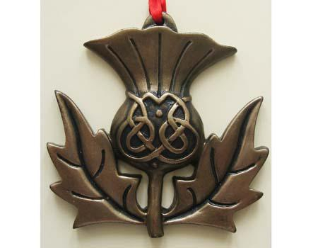 Christmas Ornament - Bronzed Scottish Thistle