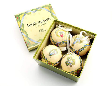 Box set of 4 Irish Christmas Ornaments