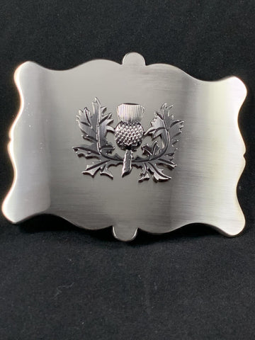 Buckle - Chrome Thistle shaped