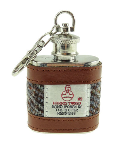 Key Ring Flask Harris Tweed 1oz