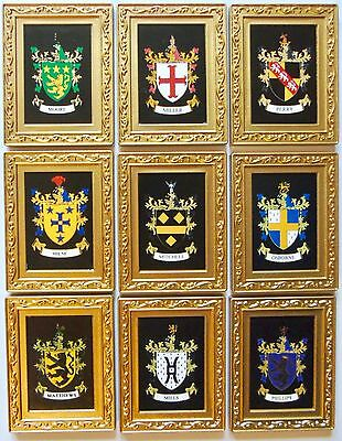 Magnet Heraldic Family Name with Coat of Arms