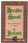 Map Heraldic Scroll Irish Family Names & Origins