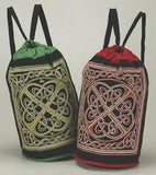 Backpack Cotton Celtic Design (Green)