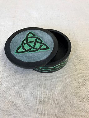 Box Round Stone Celtic Design
