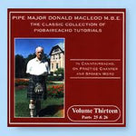 Classic Collection of Piobaireachd Tutorials Vol 13 - Donald MacLeod