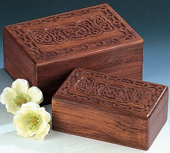 Box Wood with Carved Celtic Design