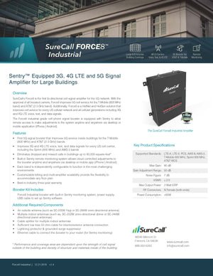 Force8 Sentry™ Equipped 3G, 4G LTE and 5G Signal Booster for Large Buildings