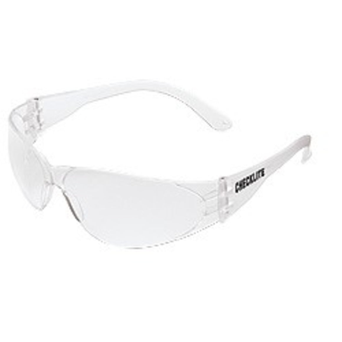 MCR Checklite Safety Glasses,Wrap Around,Clear Lens