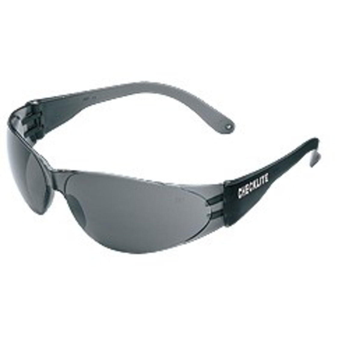 MCR Checklite Safety Glasses,Wrap Around,Gray Temples,Lens Gray