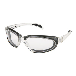MCR PN1 Pantera Safety Glasses, Clear Frame, Clear Anti-Fog Lens