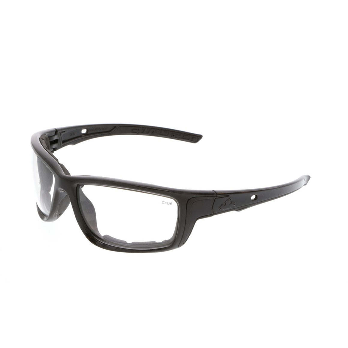 MCR Swagger SR5 Safety Glasses, Gray Foam Lined Frame, Clear MAX6 Anti-Fog Lens