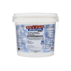 2XL-100 2XL Corp Gym Wipe Antibacterial Bucket, 8x6 Towelette, White,700 Sheets/Roll, 2 Buckets/Case