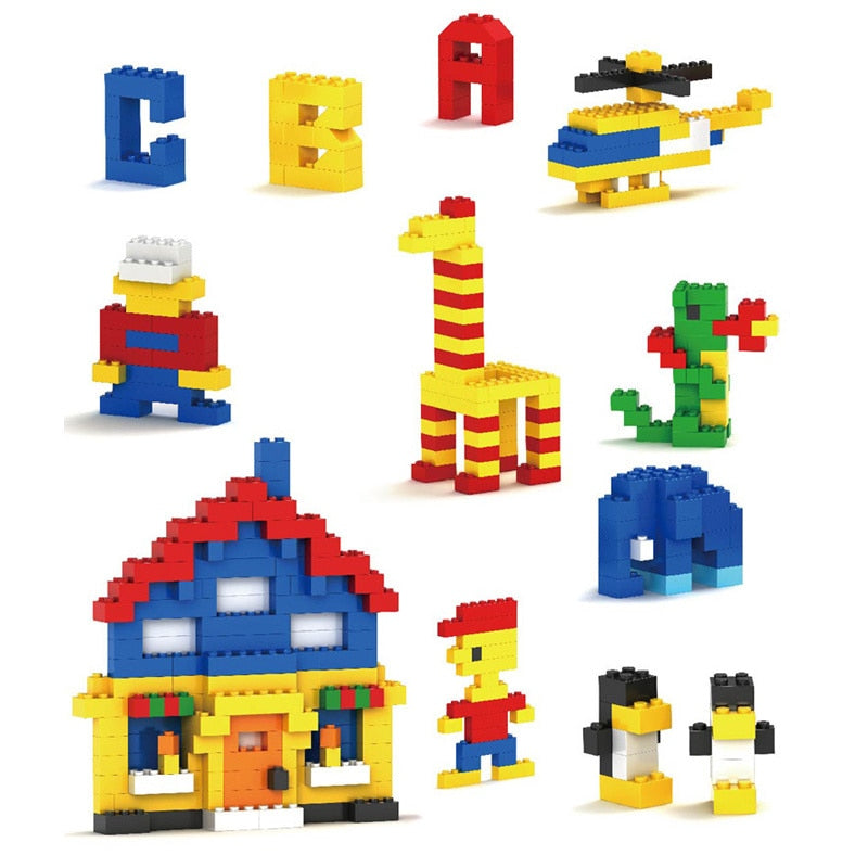 1000 Pieces Building Blocks Legoings City DIY Creative Bricks Bulk Model Figures Educational Kids Toys Compatible All Brands